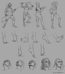 Drawing Exercises 01 - Anatomy / Feet / Faces