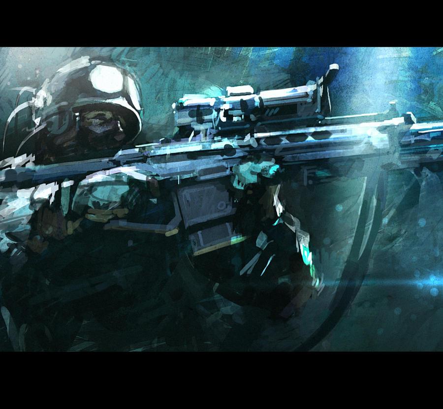 Elite soldier by Sanchiko