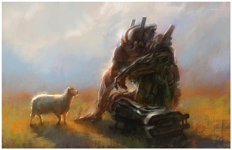 Sheep and Robot by Sanchiko