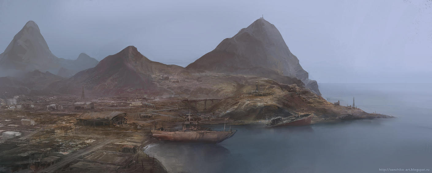 rusty coast by Sanchiko