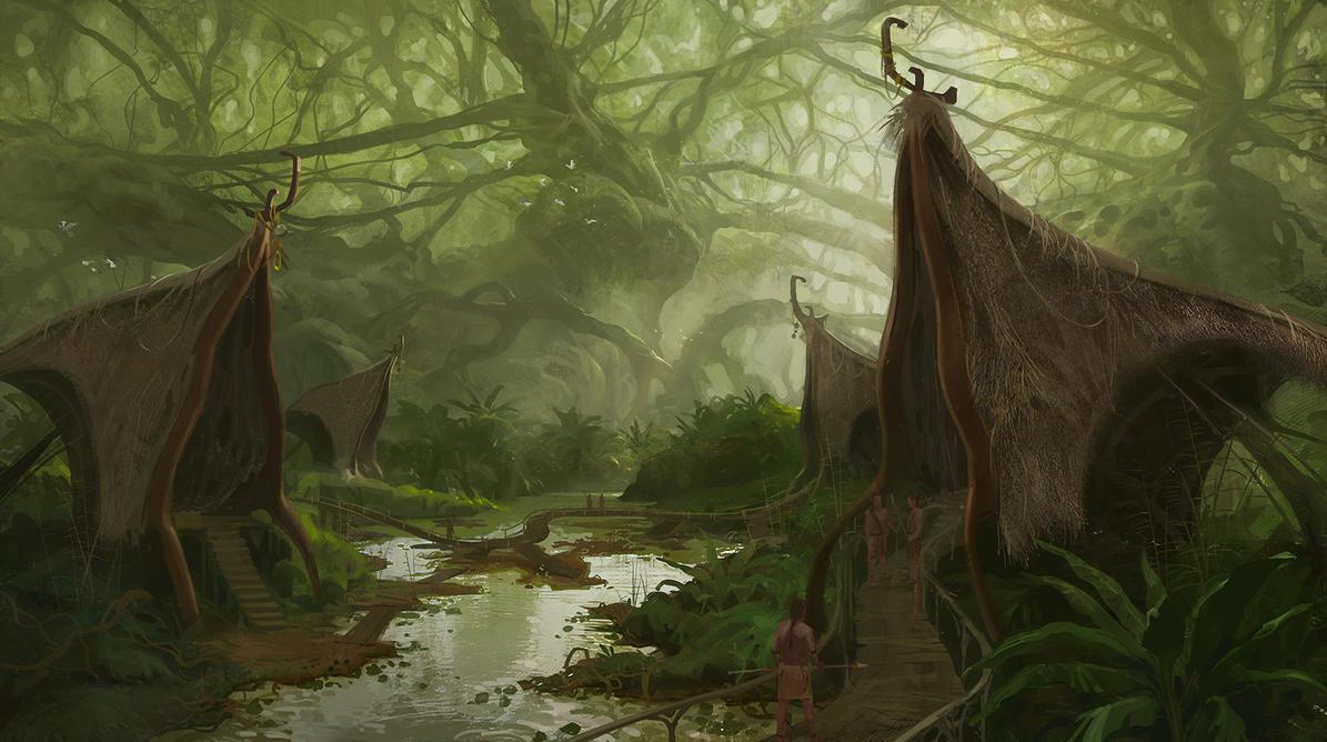 Jungle Village by Sanchiko