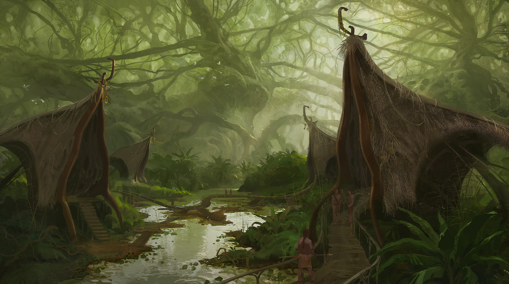 Jungle Village by Sanchiko