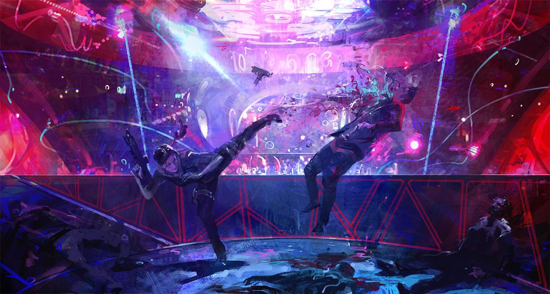 Bar Fight by Sanchiko