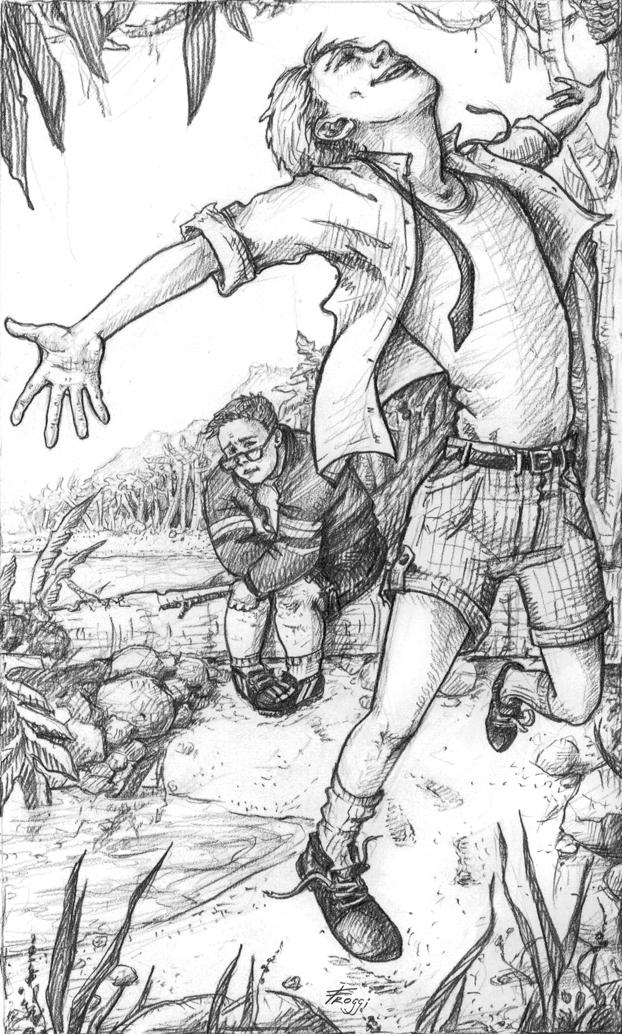 ralph lord of the flies drawing jack and ralph lord of the flies fanart drawing