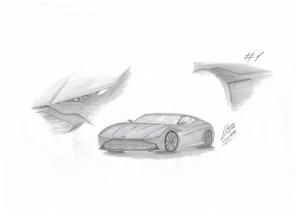 Aston Martin Walldesign #1 Eigenkreation by car4free