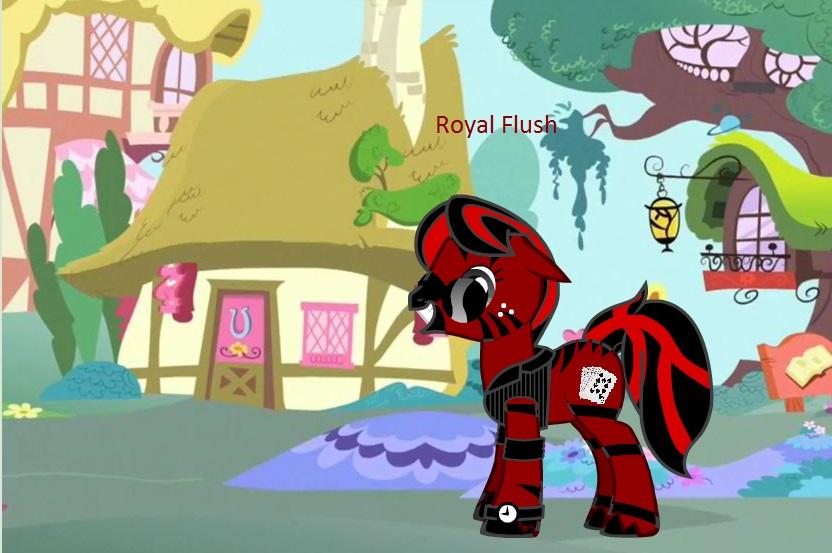 Royal Flush the Gambler by trainman666
