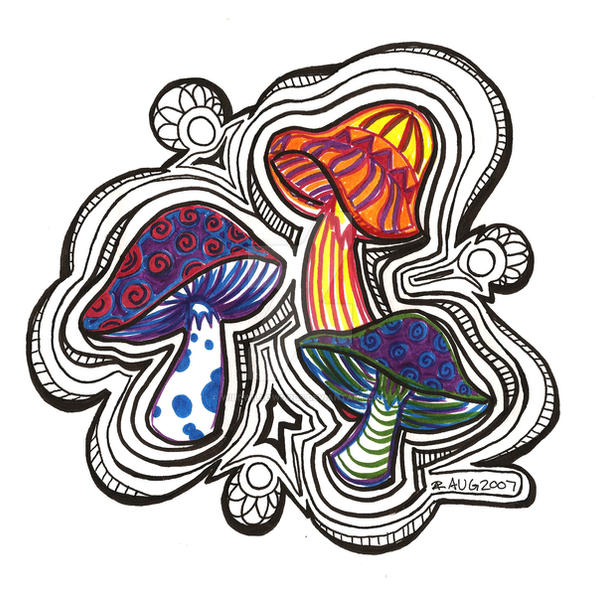 trippy shrooms by wildwillowoods on deviantart