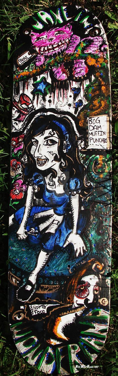 Jane in Wonderland Skateboard