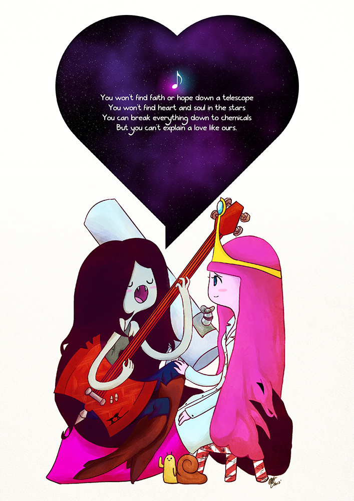 Marceline Serenades a Scientist by illeity