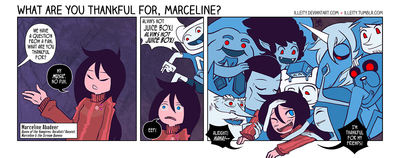 What are you thankful for, Marceline? by illeity