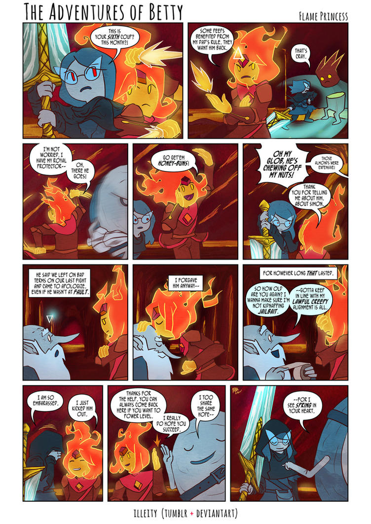 is flame princess dating cinnamon bun As of the red throne, cinnamon bun is the flame princess' champion and  knight  it was confirmed that he and flame princess are not dating by cartoon.