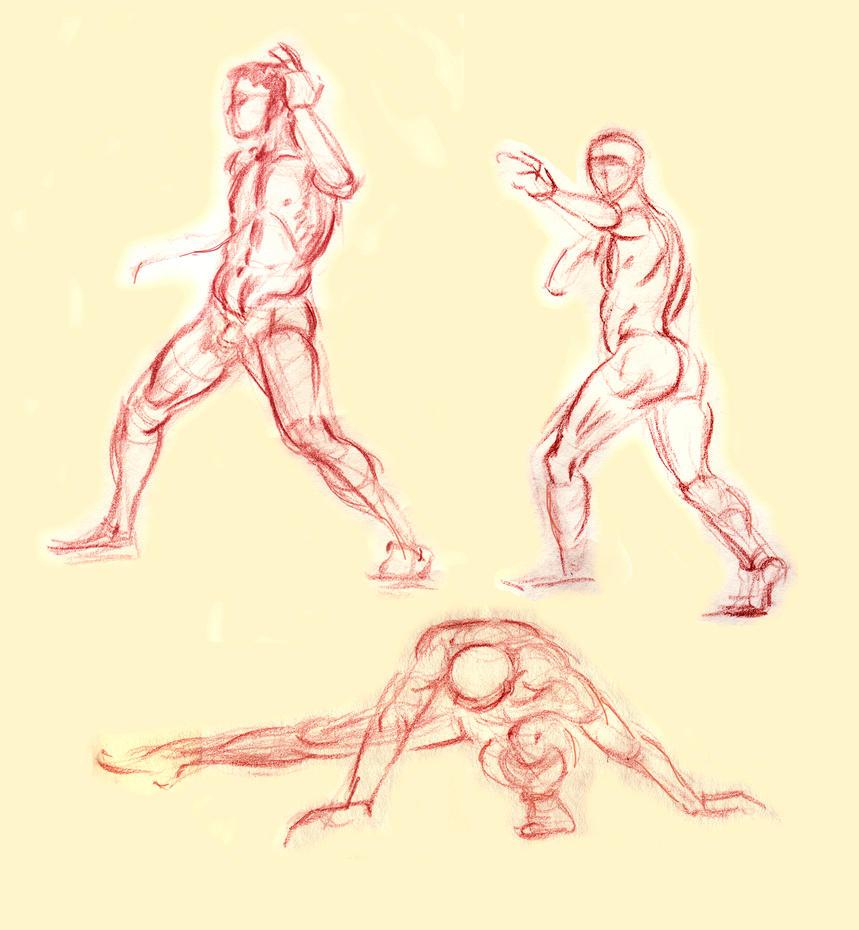 April 2009 Figure Studies by Kathy-B