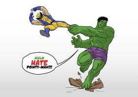 Hulk Vs. Wolverine by PragMattic