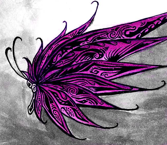 Tribal Butterfly by SakuraTenshi94