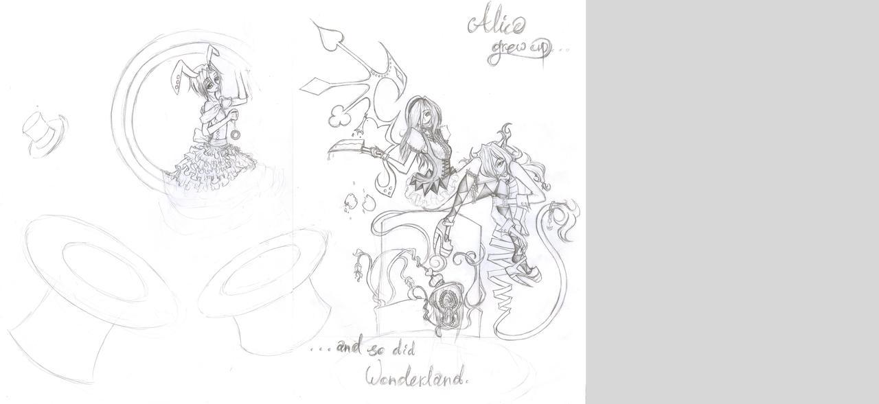 Alice In Wonderland - WIP by SakuraTenshi94