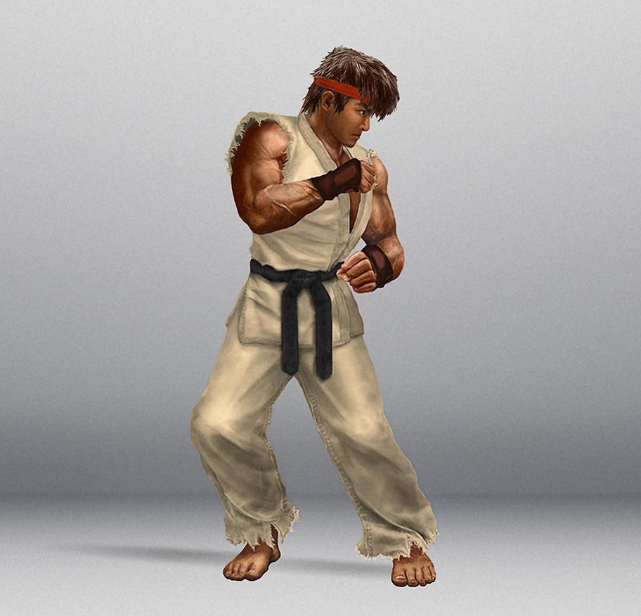 Ripped Ryu HD [Realistic] SF2 Sprite