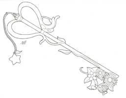 Kairi's Key Blade - Line Art by YueAsazuki