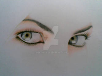 Charlize theron eyes by Dee-java