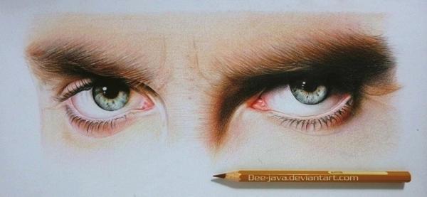 michael fassbender eyes by Dee-java