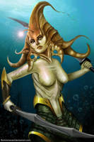 Naga Siren by Burninmaned