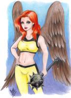 Hawk-Girl by LouizSantana