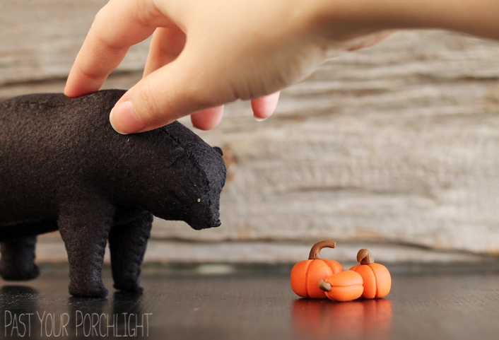 Halloween Bear Soft Sculpture by PastYourPorchlight