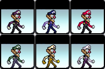 Waluigi Color Changes by Gego-Kurin on DeviantArt