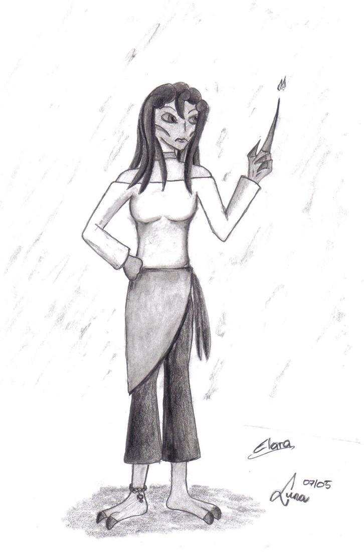 Elara, the fiery Lady by LanaZaire