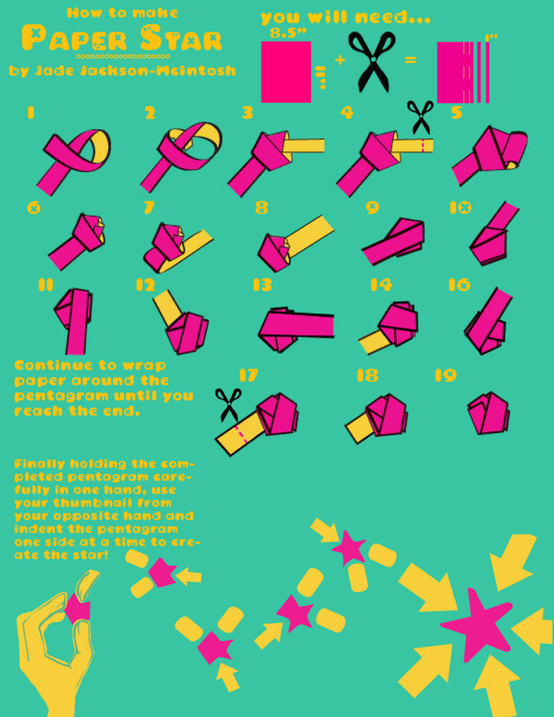 How To Make Paper Stars By Tangledwires On Deviantart