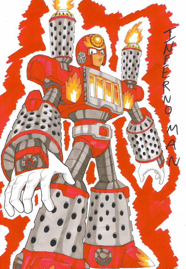Dwn No. 82: Inferno Man by GarthTheDestroyer
