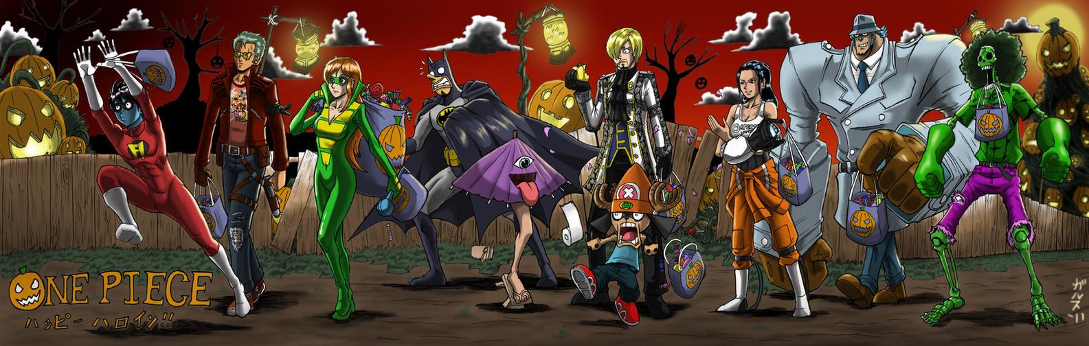 One Piece Halloween by Garth2The2ndPower