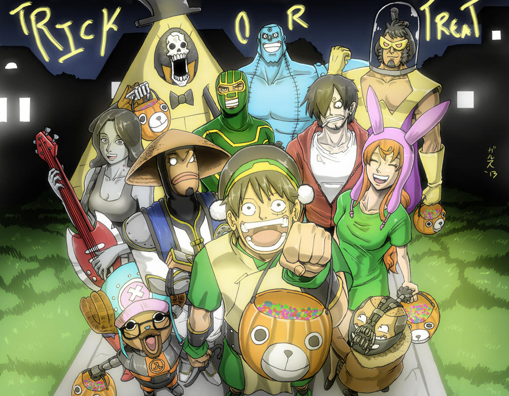 One Piece Halloween 2 by GarthTheDestroyer