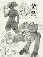 Garth's Random Sketches- Alpha by Garth2The2ndPower