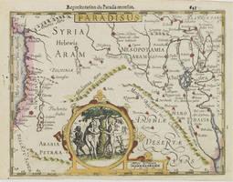 Map Of Bible Paradise (Aramean)