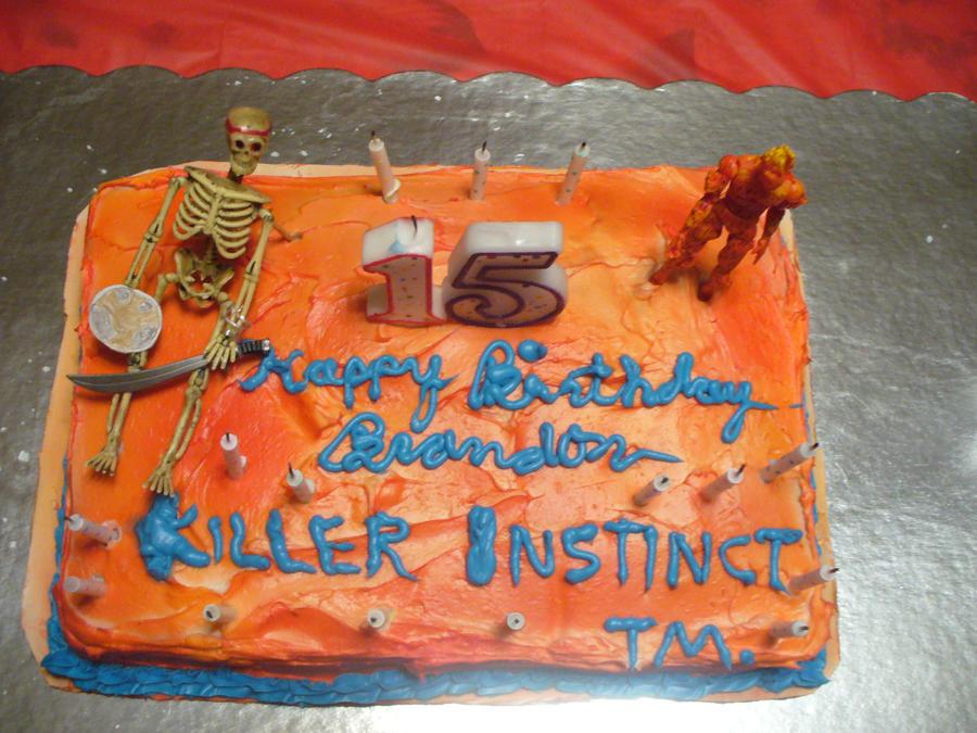 Birthday Cake Ki Photo : My 15 Birthday Cake Killer Instinct by conkeronine on ...