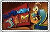 EarthWorm JIM 2 Stamp by conkeronine