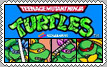 Teenage Mutant Ninja Turtles Arcade Stamp by conkeronine