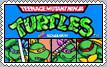 Teenage Mutant Ninja Turtles Arcade Stamp by conkeronine