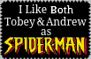 Tobey Maguire and Andrew Garfield Stamp by conkeronine