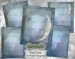 Blue Moon Journal Pages Collection