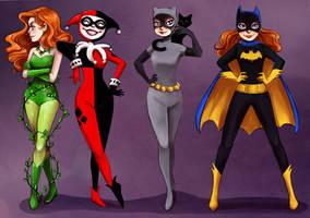 Gotham Girls color by courtneygodbey