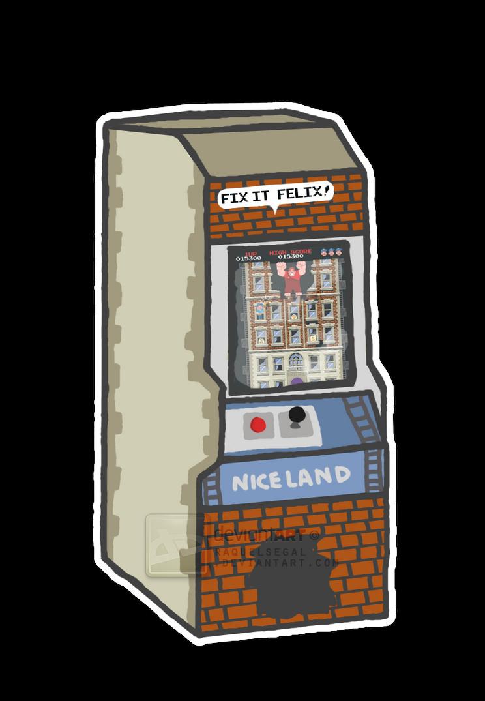 Fix-It Felix Jr. Arcade Machine by raquelsegal on DeviantArt