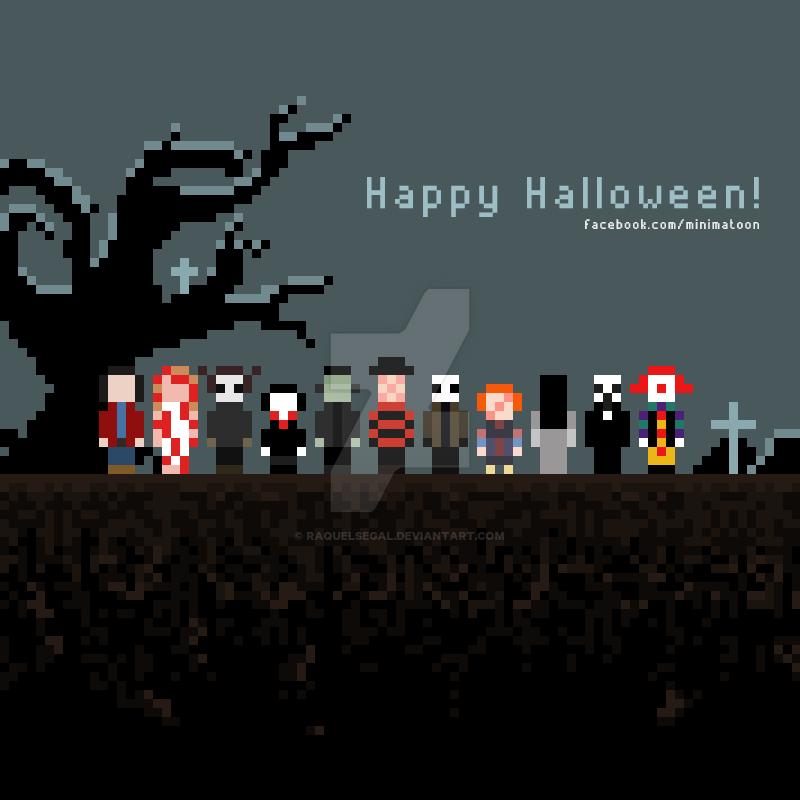 Halloween - Pixel art by raquelsegal on DeviantArt