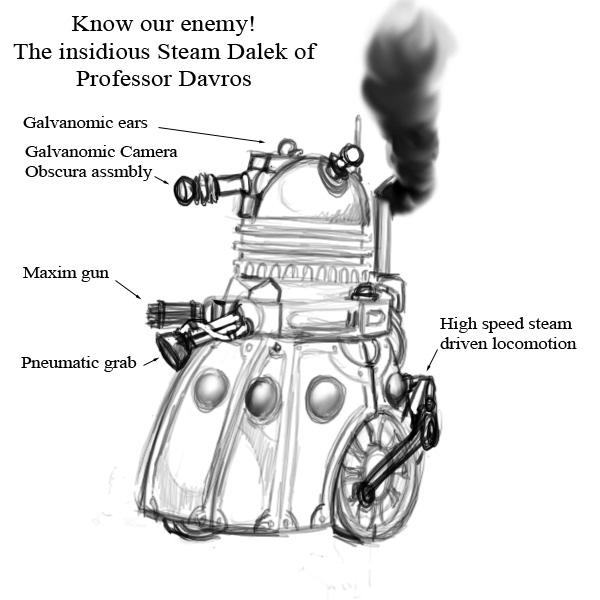 Steampunk Dalek by pixelfink