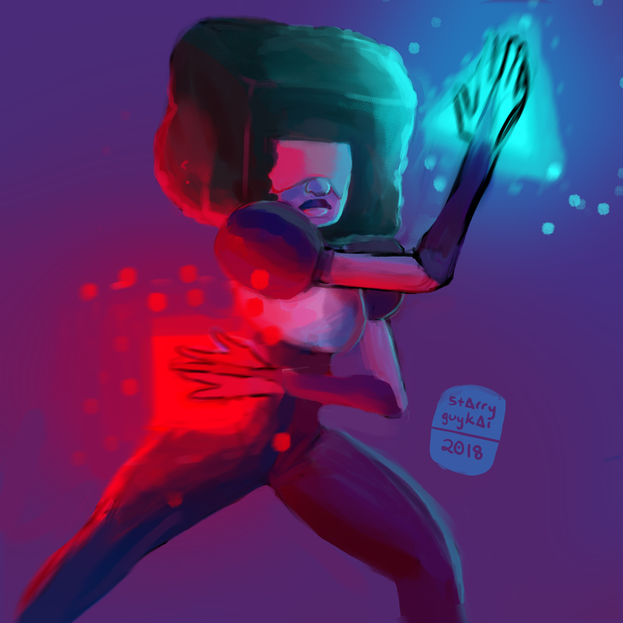 45 min drawing of Garnet!! ❤💙 I'm gonna aim to post at least one drawing a week from now on. :>