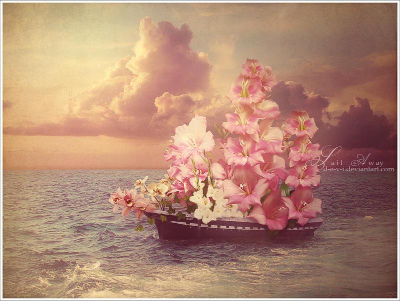 Аву, картинка с днем рождения море цветы