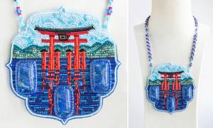 O-Torii - beaded pendant (Itsukushima, Japan)