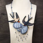 It is going to rain! - beaded necklace