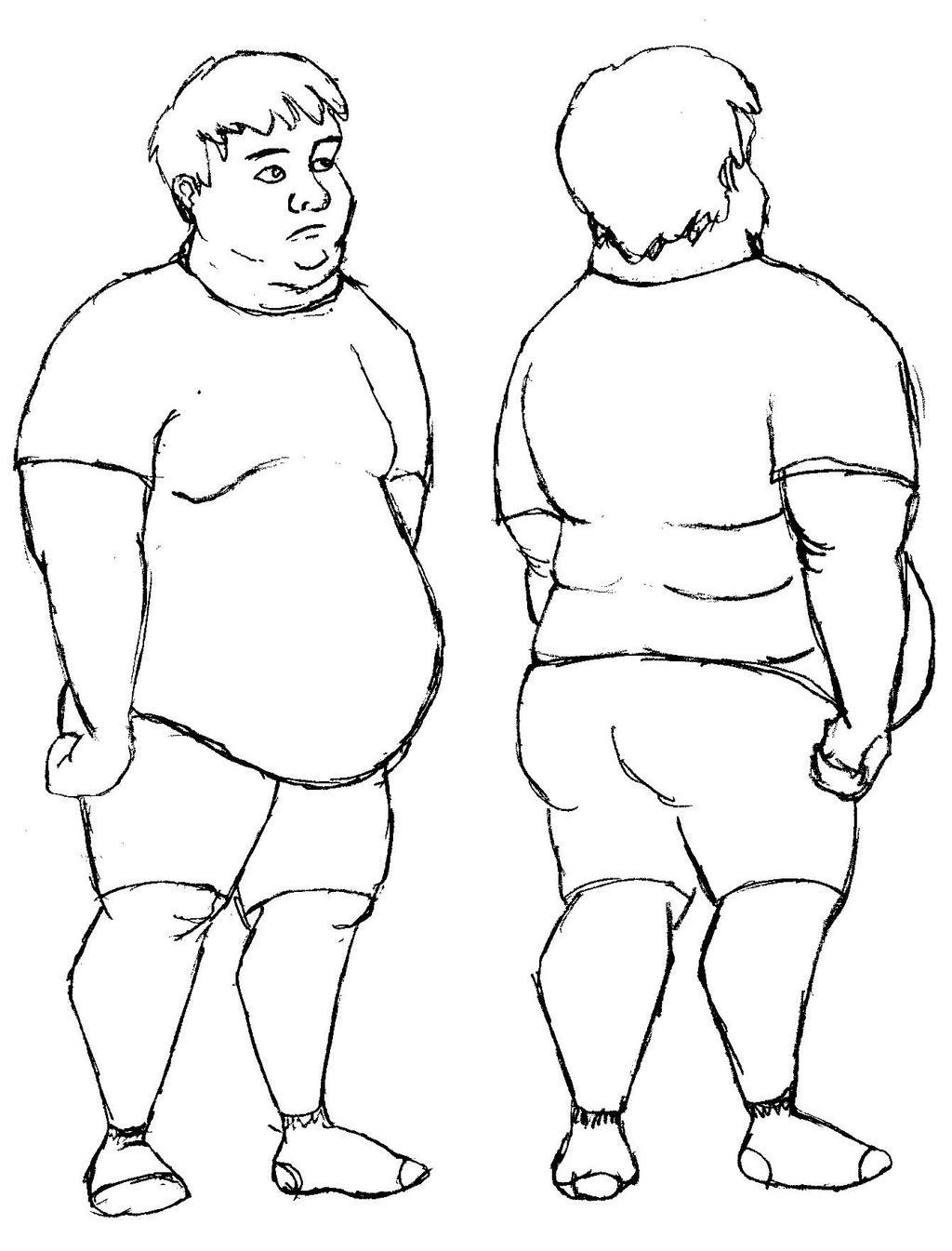 Fat Man Drawing 54