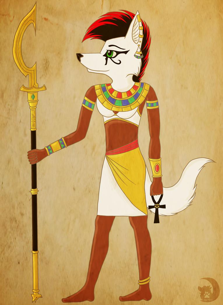 Jacky the egyptian goddess by LunaWolf43